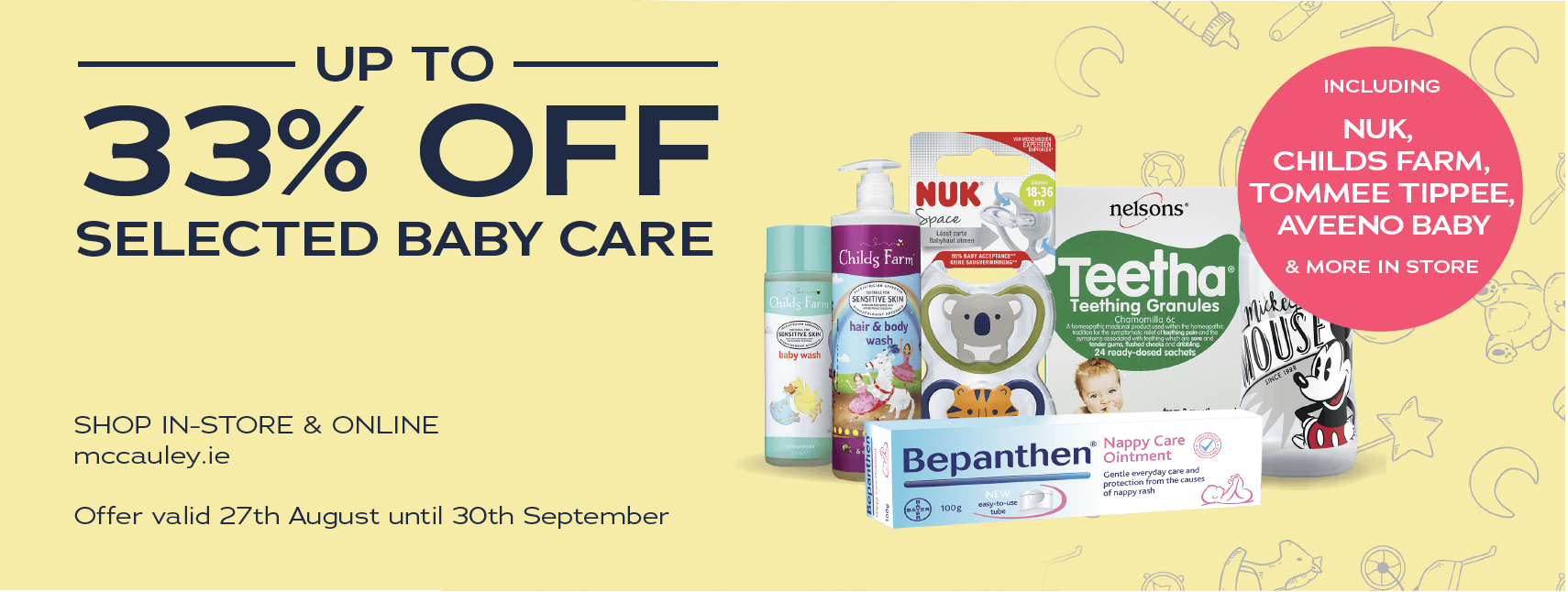 Up To 33% Off Selected Baby Care