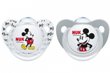 Nuk Mickey Minnie Silicone Soother 0-6 (2)