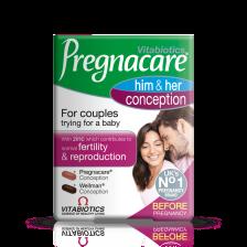 Vitabiotics Pregnacare His & Her Conception - 60 Pack