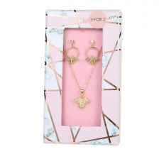 BEE Necklace & Earring Set -B