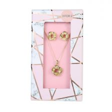 Ladies Twirl Necklace & Earring Set A