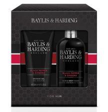 Baylis & Harding Men's Black Pepper & Ginseng 2pc Set