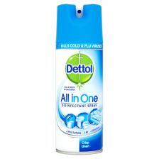 Dettol All in One Disinfectant Spray Crisp Linen - 400ml