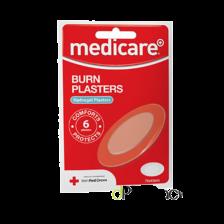 MEDICARE BURN PLASTERS - 6 PACK