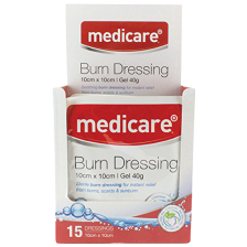 MEDICARE BURN DRESSING 10 X 10CM