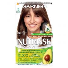 Garnier Nutrisse 5 Mocha Brown Permanent Hair Dye