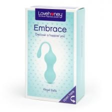 Lovehoney Embrace Silicone Kegal Balls 80G Aqua