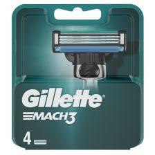Gillette Mach 3 Razor Blades - 4 Cartridges