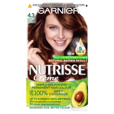 Garnier Nutrisse 4.3 Dark Golden Brown Permanent Hair Dye