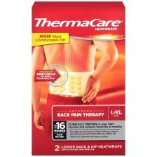 Thermacare Back Wrap  33% Extra Fill Pack 3+1