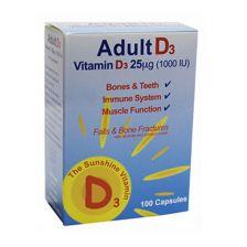 Adultvit D3 Pure Vitamin D Capsules 1000Iu - 100 Capsules