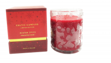 Celtic  Candles Red/Gold Cinnamon