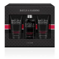 Baylis & Harding Men's Black Pepper & Ginseng 3 Piece Set
