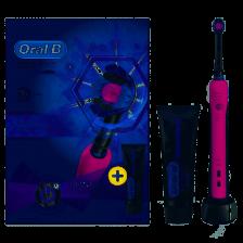 Braun Oral-B Pro 650 Pink Electric Toothbrush & Paste