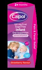 Calpol Suspension 2m+ Sugarfree Syringe  - 140ml - 1018121 OTC