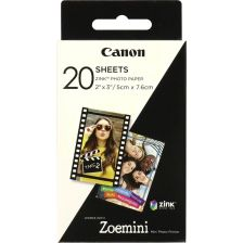 Canon Zoemini Zink Camera Photo Paper - 20 Sheet Pack