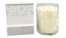 Celtic Candles White and Silver Frankincense
