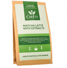 Chi Fit Matcha Latte With Extracts 150g - (30 cups of Matcha Latte)