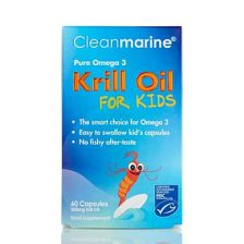Clean Marine Krill Oil for Kids - 60 Pack