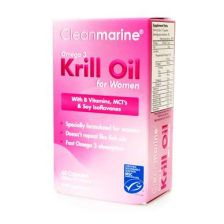 Clean Marine Omega 3 Krill Oil For Women - 60 Capsules