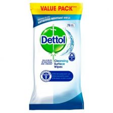 Dettol Surface Cleanser Wipes - 72 Wipes