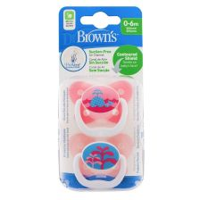 Dr Browns Options Prevent Soother 0-6 Pink