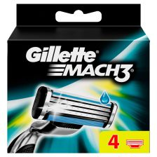 Gillette Mach 3 Razor Blades - 4 Cartridges