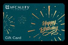McCauley Gift Card - Happy Birthday