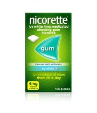 Nicorette Gum Icy White 4mg - 105 Pack 9002635 OTC