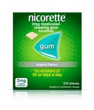 Nicorette Gum Original 2mg  - 210 Pack 6221774 OTC