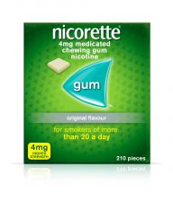 Nicorette Gum Original 4mg  - 210 Pack 6221790 OTC