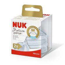 Nuk Nature Sense Silicone Teat Medium 6-18M
