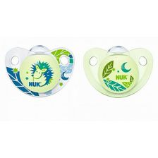 Nuk Nightday Silicone Soother 6-18 (2)