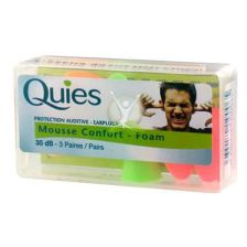 Quies Foam Ear Plugs (3 Pairs)