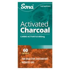 Sona Activated Charcoal Capsules 200Mg 60