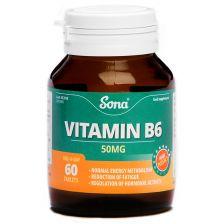 Sona Vitamin B6 50mg (60)