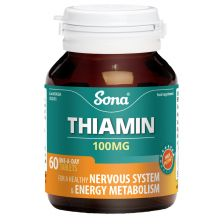 Sona Thiamin Vitamin B1 Capsules (60)