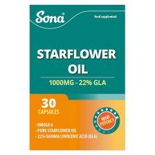 Sona Starflower Oil 1000mg Capsules (30) Twin Pack