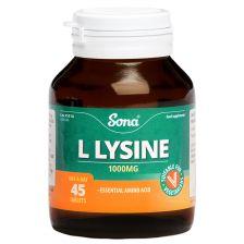 Sona L-Lysine 1000mg Capsules (45)