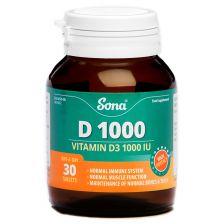 Sona Vitamin D1000IU Cholecaliferol 25 MCG (30)