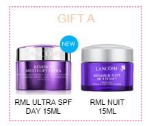 Lancome Ultra SPF 15ml & Nuit 15ml Free Gift + Goodie Bag