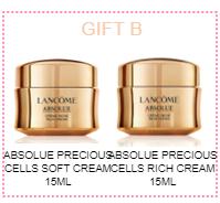 Lancome Absolue Precious Soft Cell 15ml & Rich Cream 15ml + Goodie Bag