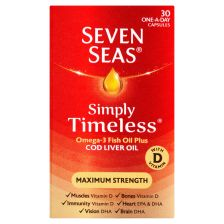 Seven Seas Cod Liver Oil Maximum Strength Capsules 30's