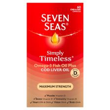 Seven Seas Cod Liver Oil Maximum Strength Capsules 60's