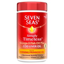 Seven Seas Cod Liver Oil Plus Evening Primrose Oil Capsules 90's