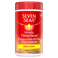 Seven Seas Pure Cod liver Oil Once a Day 120 Capsules