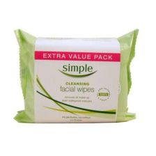 Simple Facial Cleansing Wipes Extra Value Pack 2 x 25