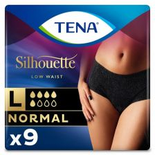 Tena Lady Silhouette Normal Noir Pants Large  - 9 Pack