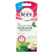 Veet Wax Strips Natural Inspirations - Face 20 Pack