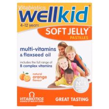 Vitabiotics Wellkid Soft Jelly Orange Pastilles